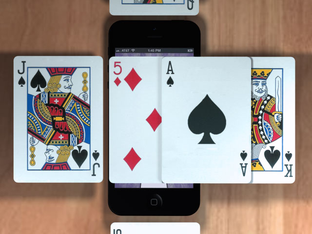 Flipping playing card